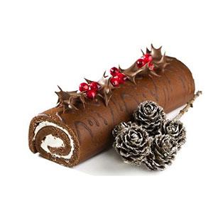 receta facil tronco de Navidad Chris Elwell