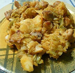 Salmón con salsa al Roquefort