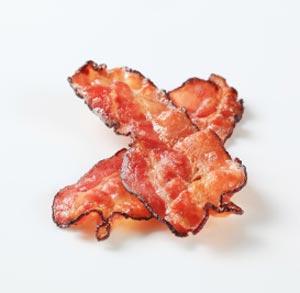 bacon crujiente sin grasas