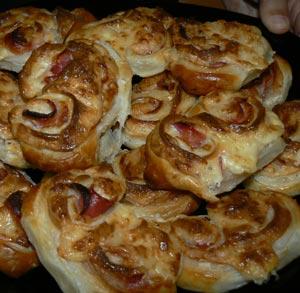 receta palmeras bacon y queso