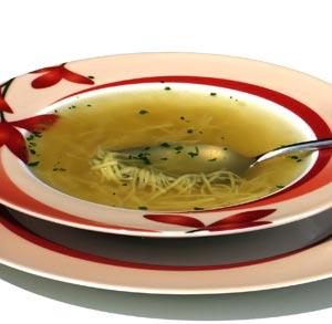 sopa de jamon y huevo