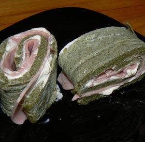 Tortilla de Acelgas con Jamon y Queso