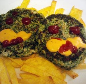 receta-gratis-hamburguesa-espinacas-halloween