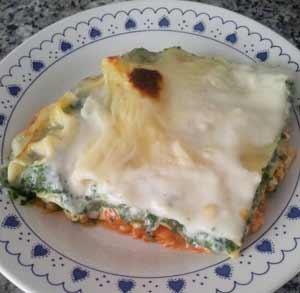 receta-gratis-lasaña-espinacas-pollo