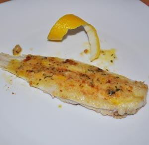 receta de cocina lenguado meuniere