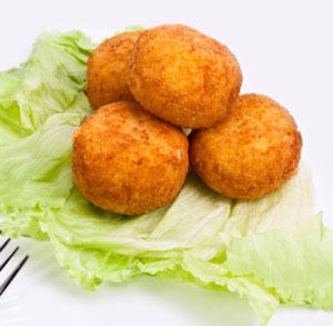 receta cocina bolas patata jamon