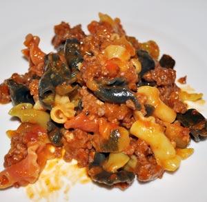 Albóndigas de pavo con manzana y salsa de cebolla y setas