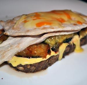 receta tratis tosta pollo con higos y salsa mostaza y miel