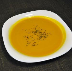 receta de cocina crema calabaza zanahoria y gambas