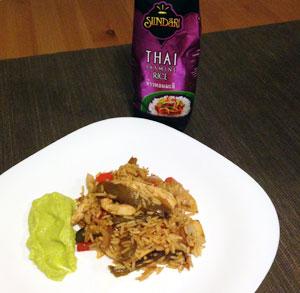 receta cocina sundari thai arroz tailandes mexicana alioli aguacate