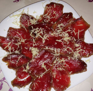 receta gratis carpaccio ternera sal costa Muestras Premium