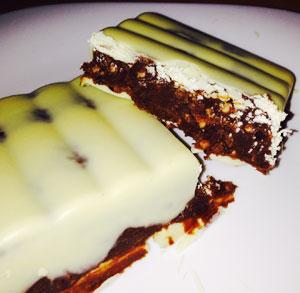 receta cocina navidad postre turron chocolate naranja