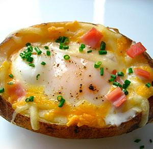 receta gratis patatas asadas rellenas huevo