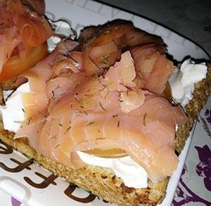 receta gratis tosta salmon queso