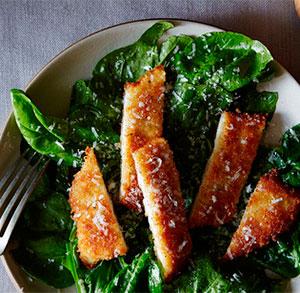 receta cocina ensalada de pollo frito