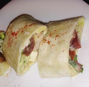 receta gratis burrito hummus ensalada carne