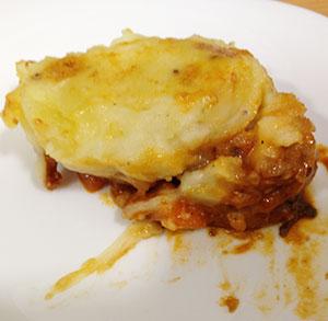 Huevos al horno con batata, pavo y queso