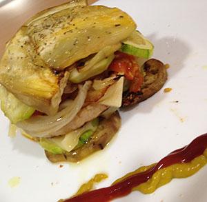 receta facil hamburguesa verduras asadas