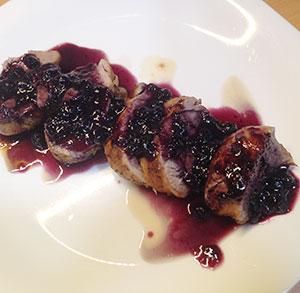 receta cocina solomillo salsa arandanos silvestres