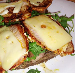 receta gratis tostas lomo queso