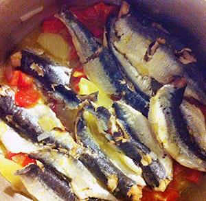 receta gratis sardinas a la cazuela