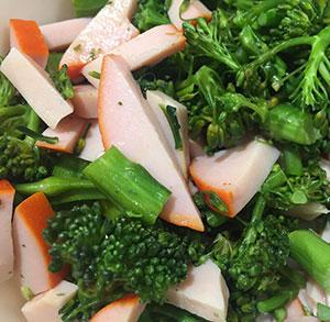 receta gratis salteado broccolini bimi brocoli