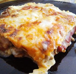 receta gratis lasaña pimientos asado barbacoa