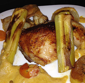 receta facil pollo al horno con puerros