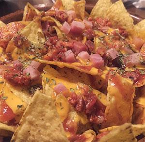 receta gratis nachos bacon queso