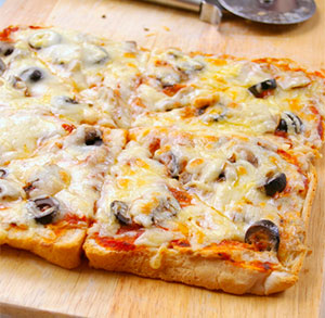 receta facil pizza pan de molde