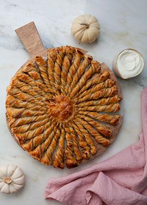 receta facil espirales calabaza crema jarabe arce