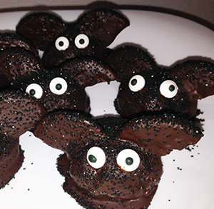 receta halloween trufas oreo murcielagos