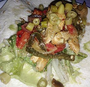 receta facil fajitas picantes pollo guacamole