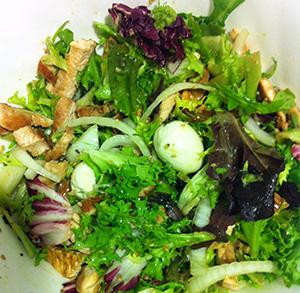 receta facil de ensalada templada de pavo y soja