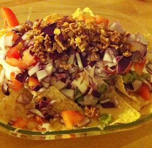 receta facil nachos con guacamole y queso
