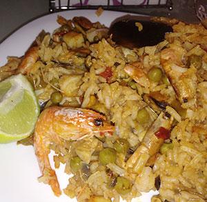 receta facil arroz al horno con marisco