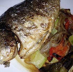 receta facil de dorada con verduras