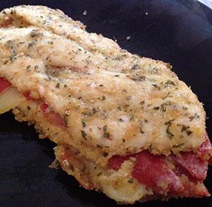 receta facil de filetes de pollo rellenos