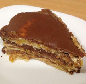 receta facil tarta de galletas con flan