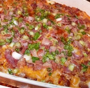 receta de nachos con dip de pollo queso y bacon