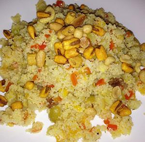 receta facil ensalada de cuscus con verduras y frutos secos
