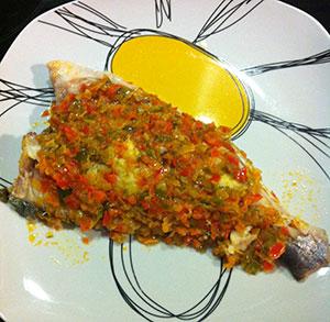 receta facil de dorada con verduras al vapor