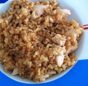 receta facil de arroz con pollo y salsa de soja
