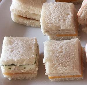 Receta facil de canape de queso y pavo